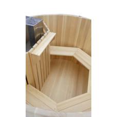 Японская баня с внутренней печью (круглая и овальная)