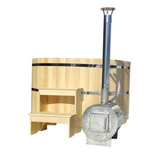 Японская баня Фуроко.Офуро с внешней печью (круглая и овальная)